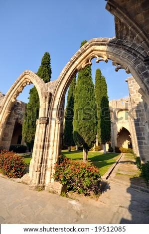 Bellapais Abbey, Kyrenia - stock photo