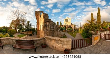 Bellapais Abbey, Kyrenia district, Cyprus - stock photo