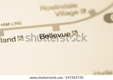Bellevue Station. Boston Metro map.