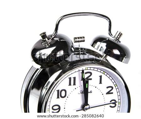 bells - clock alarm twelve  to five , 12 to 5, o'clock - isolated - stock photo