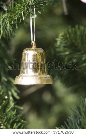 Bells with Christmas decoration - stock photo