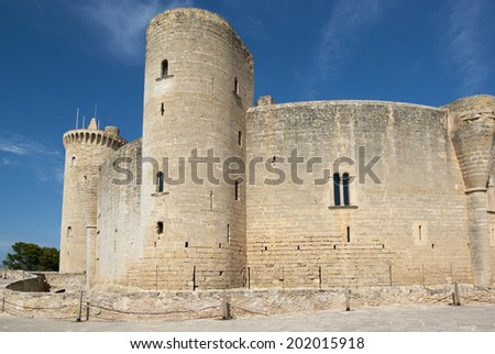 Bellver castle, Palma of Mallorca, Spain - stock photo
