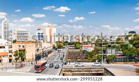 Belo Horizonte city, Minas Gerais, Brazil. - stock photo