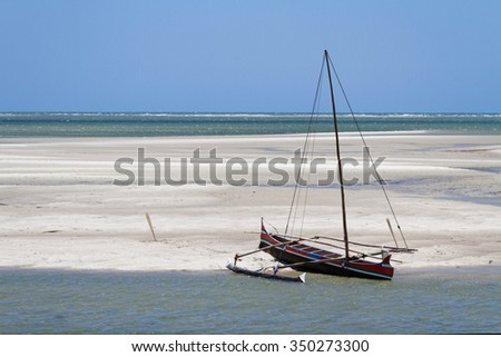 BELO-SUR-MER, MADAGASCAR, November 24, 2015 : Belo-sur-mer is a fishermen village with several natural white sand beaches.