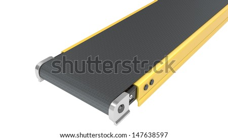 Belt conveyor isolated on white background