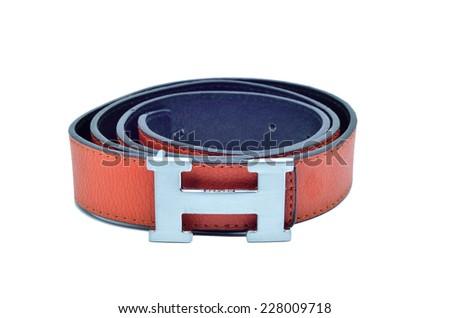 Belt isolate background - stock photo