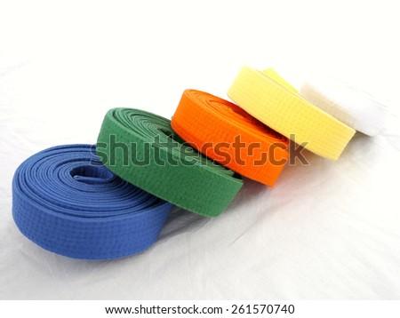 belt martial arts  - stock photo