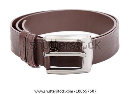 Belt on the white background