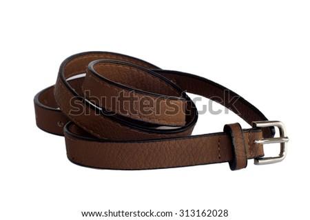 belt on the white background - stock photo