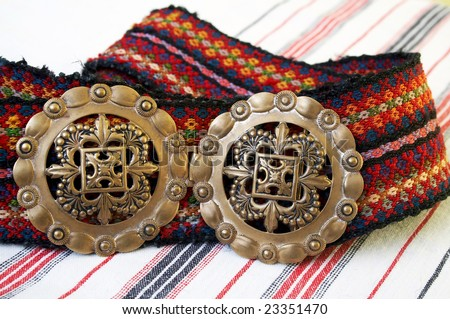 Belt, part of Serbian folk costume