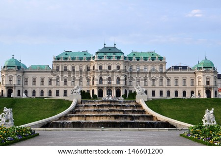Belvedere Palace in Vienna, Austria.  - stock photo