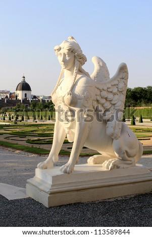Belvedere Palace statue, Vienna, Austria. - stock photo