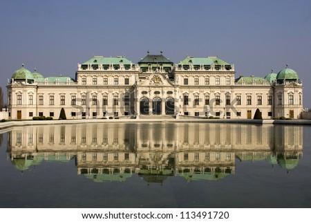 Belvedere palace Vienna Austria - stock photo