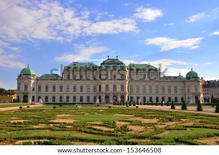 Belvedere palace, Vienna, Austria - stock photo