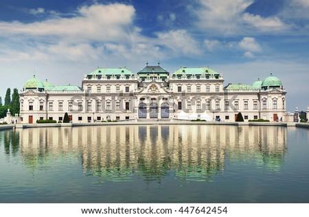 Belvedere palace, Vienna Austria - stock photo