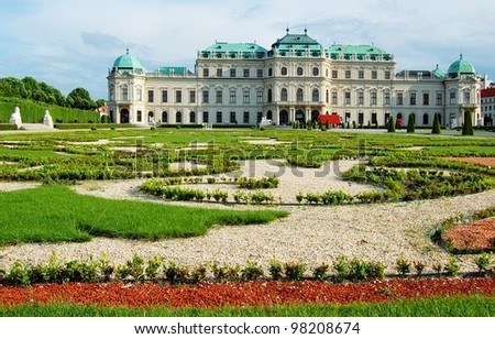 Belvedere palace Vienna, Austria - stock photo