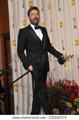Ben Affleck at the 85th Academy Awards at the Dolby Theatre, Los Angeles. February 24, 2013  Los Angeles, CA Picture: Paul Smith - stock photo