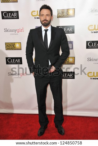 Ben Affleck at the 18th Annual Critics' Choice Movie Awards at Barker Hanger, Santa Monica Airport. January 10, 2013  Santa Monica, CA Picture: Paul Smith - stock photo