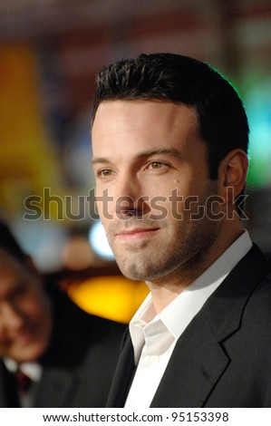 "BEN AFFLECK at the world premiere of his new movie ""Smokin' Aces"" at Grauman's Chinese Theatre, Hollywood. January 18, 2007  Los Angeles, CA Picture: Paul Smith / Featureflash - stock photo"