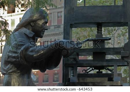 Ben Franklin the Printer - stock photo