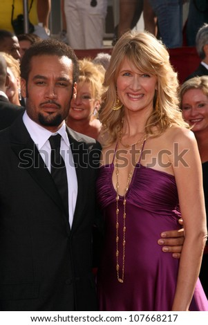 Ben Harper and Laura Dern   at the 60th Annual Primetime Emmy Awards Red Carpet. Nokia Theater, Los Angeles, CA. 09-21-08