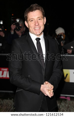 Ben Shepherd arriving for The Sun Military Awards, at The Imperial War Museum, London. 06/12/2012 Picture by: Alexandra Glen