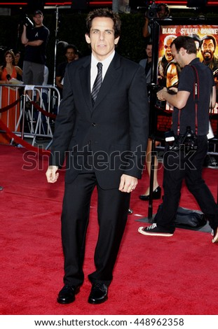 Ben Stiller at the Los Angeles premiere of 'Tropic Thunder' held at the Mann Village Theater in Westwood, USA on August 11, 2008.