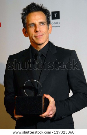 Ben Stiller at the 26th American Cinematheque Award Honoring Ben Stiller, Beverly Hilton Hotel, Beverly Hills, CA 11-15-12 - stock photo
