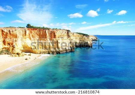 Benagil beach , Algarve, Portugal  - stock photo