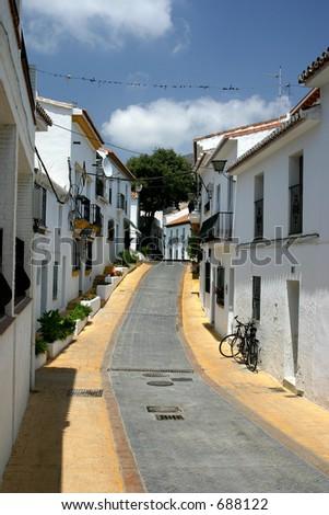 Benalmadena Old Town costa del sol spain - stock photo
