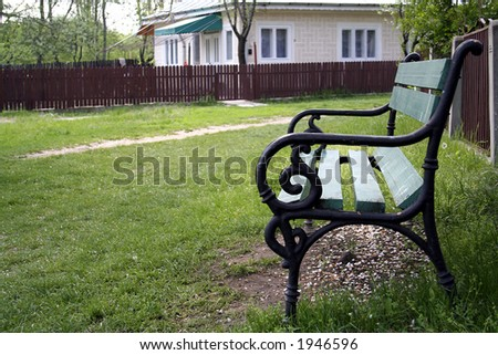 Bench and House