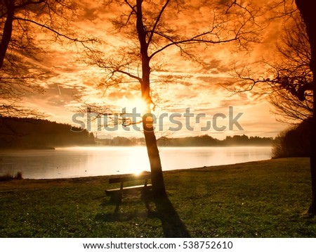bench at a bavarian lake