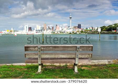 Bench, Auckland - stock photo
