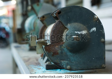 Bench Grinder.  - stock photo