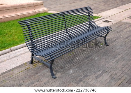 bench in park - stock photo