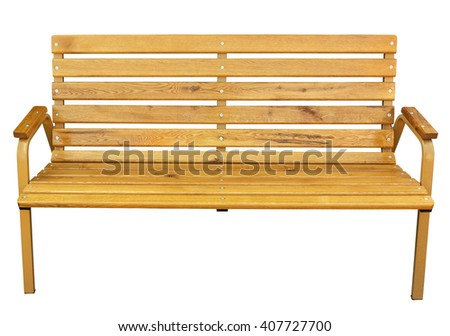 Bench isolated on white. Clipping path included. - stock photo