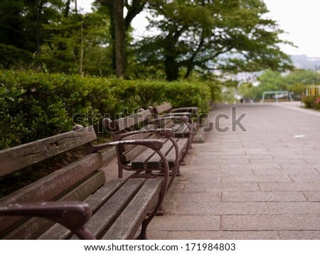 Bench of the road