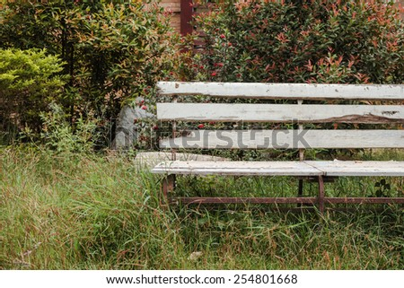 Bench old vintage in park - stock photo