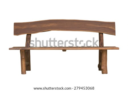 Bench on white background - stock photo