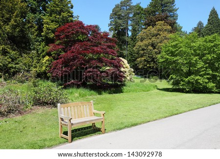 Bench seat in an English Park