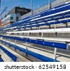 Benches in Sports Stadium - stock photo