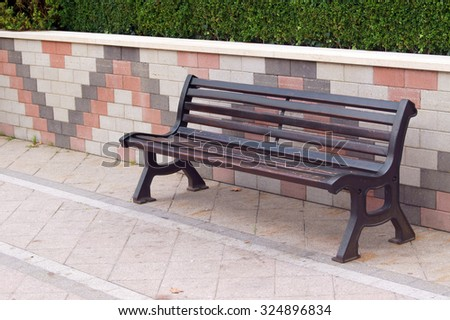 Benches in the park                - stock photo
