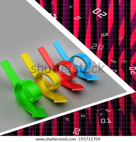 Bend arrows - stock photo