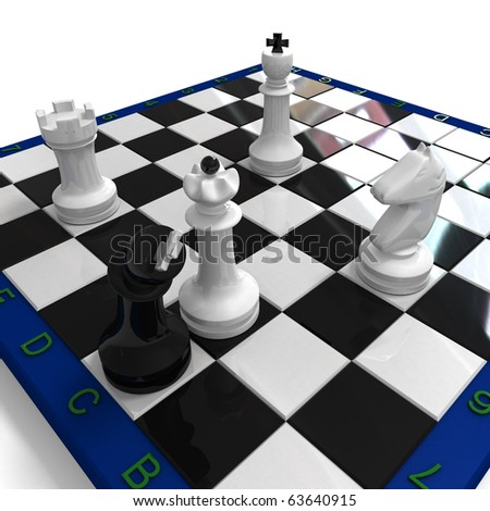Bend black king and white chess around