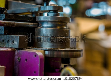 bending machine in preparation