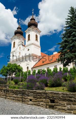 Benedictine abbey in Tihany, Hungary - stock photo