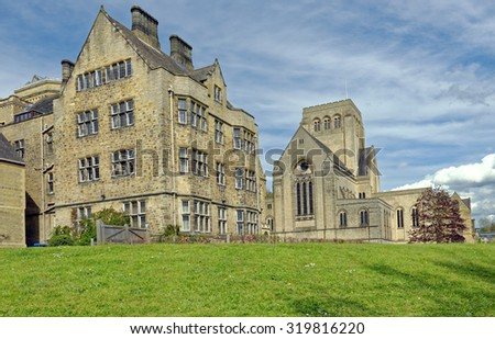 Benedictine Ampleforth College and Abbey, which are located in the village of Ampleforth, North Yorkshire, England