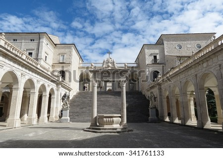 Benedictine Montecassino Abbey (Cassino, Italy), Destroyed by bombing in WWII and rebuilt immediately after