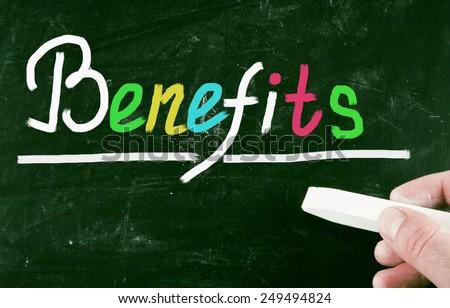 benefits concept - stock photo