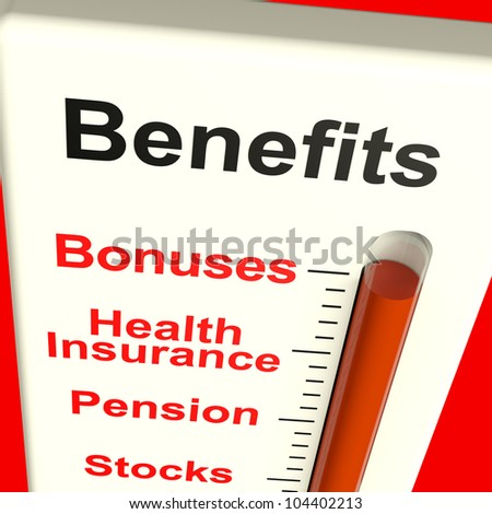 Benefits Meter Shows Bonus Perks Or Rewards